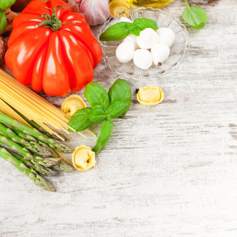 Fond italien de nourriture photo libre de droits