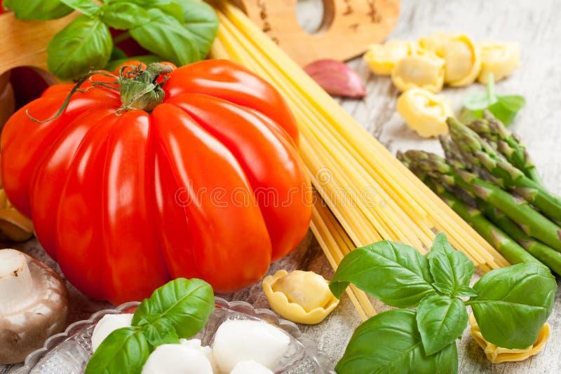 Fond italien de nourriture image stock