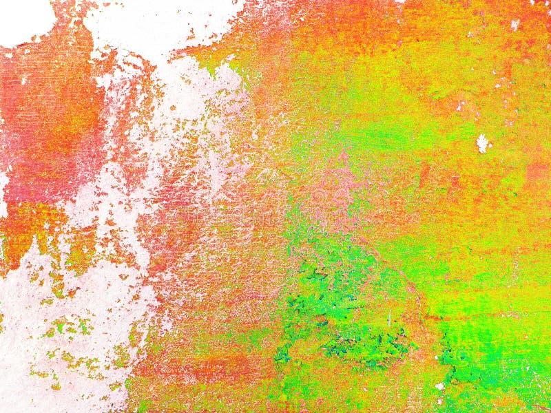 Fond italien multicolore de stuc de résumé Texture colorée sur le fond blanc photo libre de droits