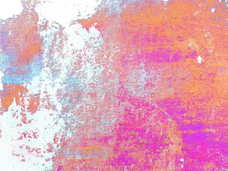 Fond italien multicolore de stuc de r?sum? Texture color?e sur le fond blanc photo libre de droits