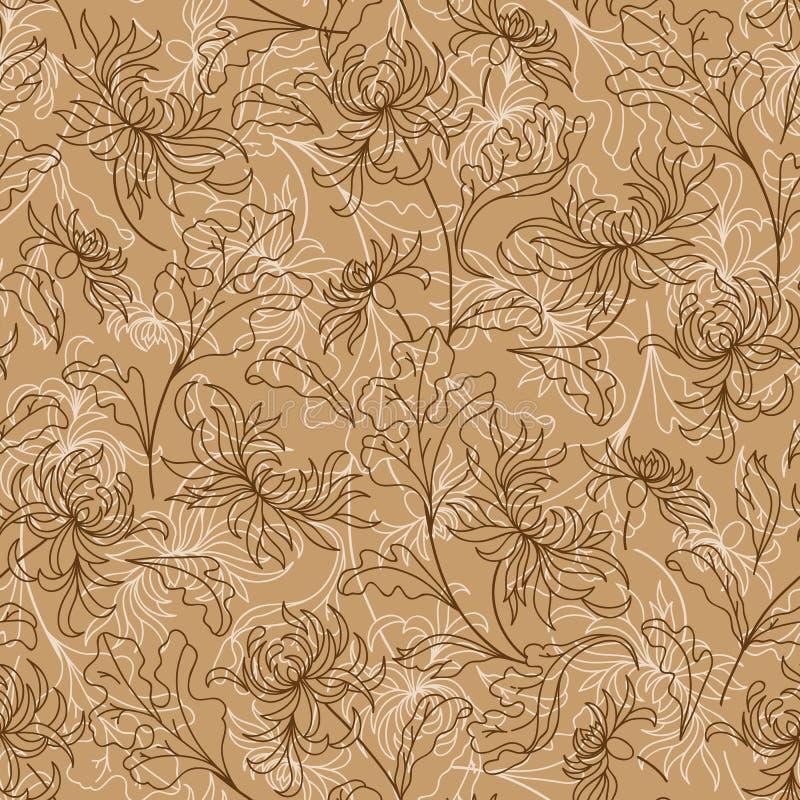 Fond japonais floral de vintage sans couture illustration libre de droits