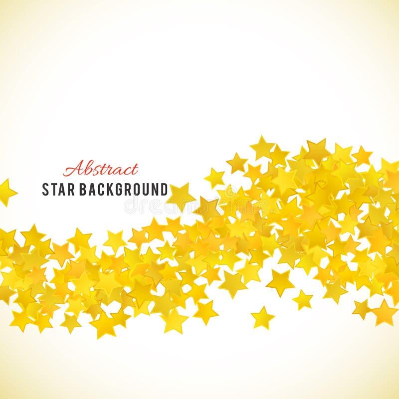 Fond jaune abstrait d'étoile Illustration de vecteur illustration libre de droits