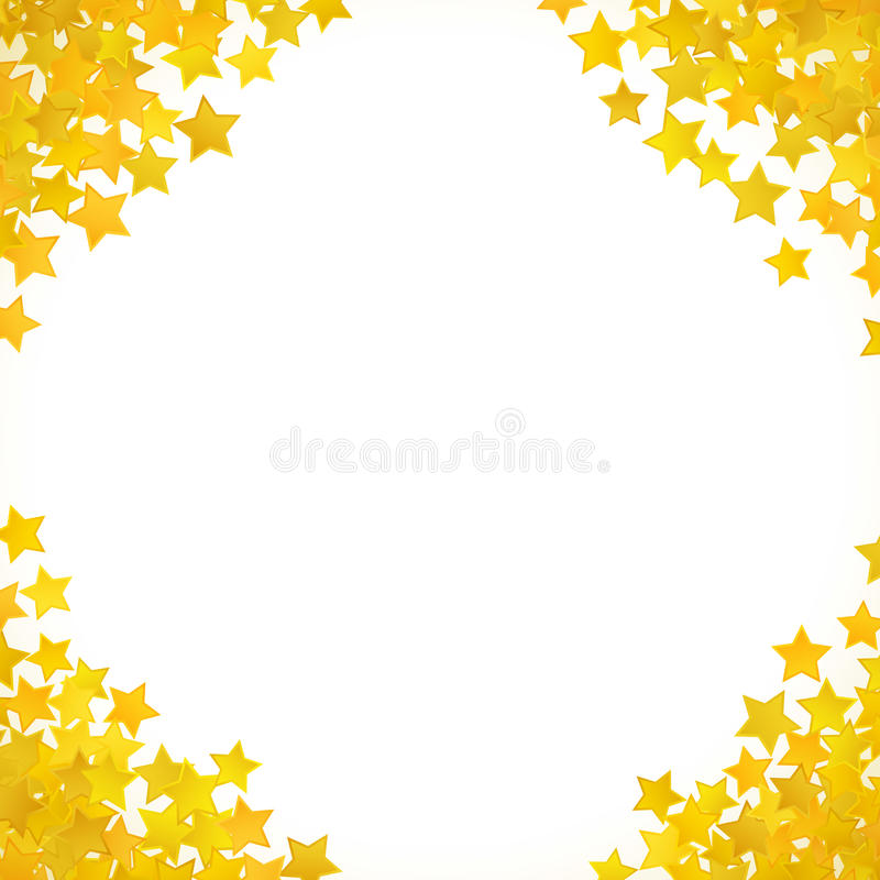 Fond jaune abstrait d'étoile Illustration de vecteur illustration de vecteur