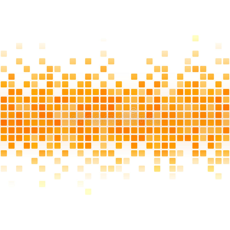 Fond jaune abstrait de pixel illustration de vecteur