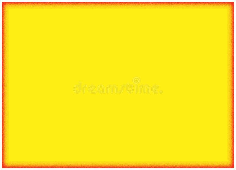 Fond jaune avec le cadre orange illustration de vecteur