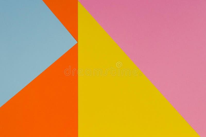 Fond Jaune, Bleu, Pourpre Et Orange De Papier De Couleur Photo stock ...