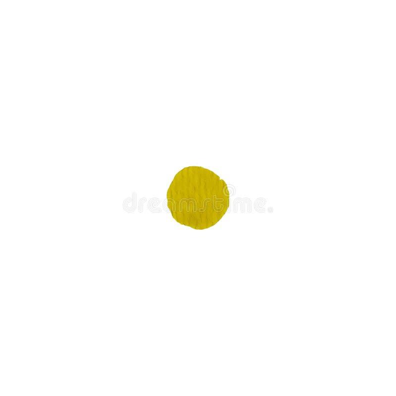 Fond jaune coloré d'abrégé sur cercle d'aquarelle illustration de vecteur