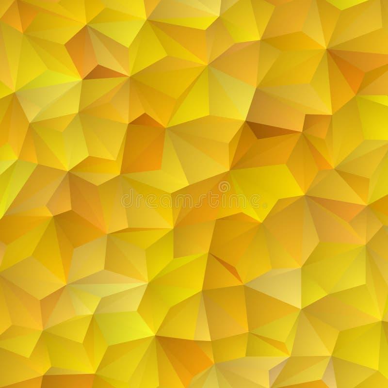 Fond jaune d'abr?g? sur triangle Mod?le de vecteur des formes g?om?triques color?es ENV 10 photos stock