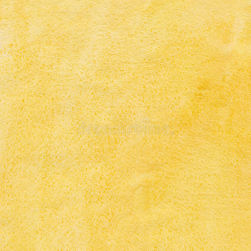 Fond jaune d'aquarelle photographie stock
