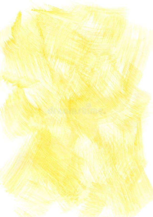 Fond jaune d'aquarelle image stock