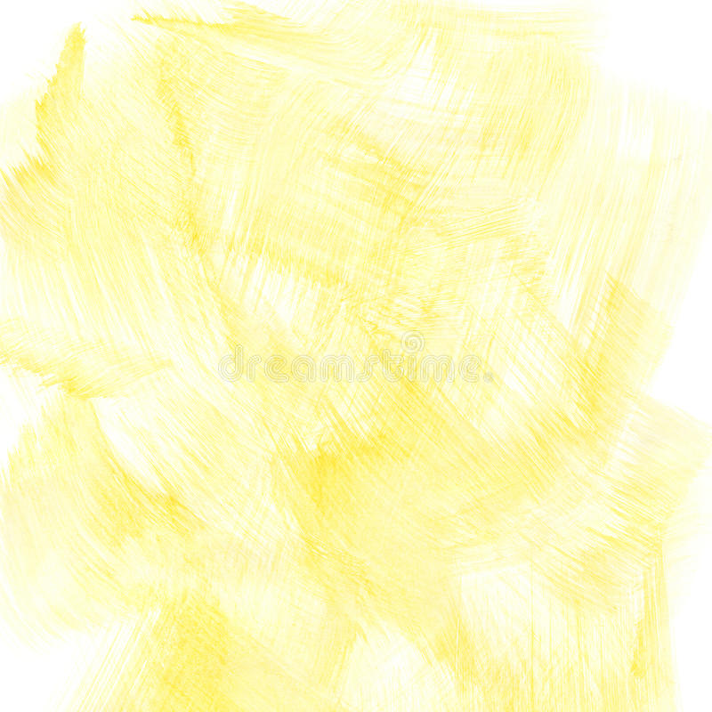 Fond jaune d'aquarelle photo libre de droits