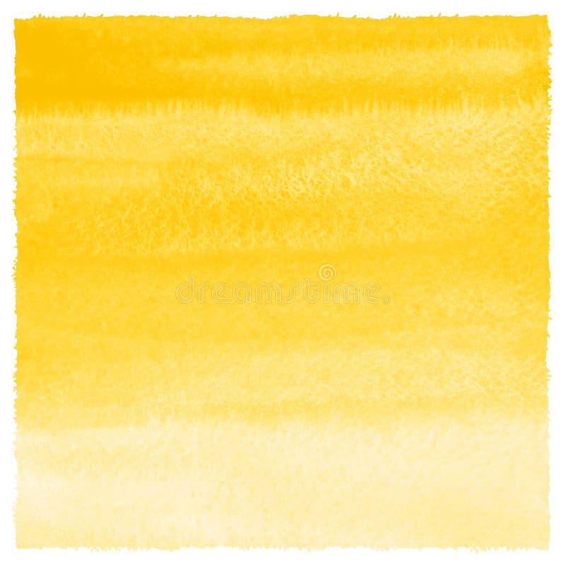 Fond jaune d'aquarelle de gradient avec les bords approximatifs illustration libre de droits