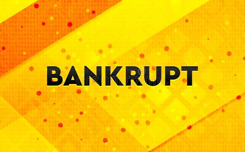 Fond jaune de bannière numérique abstraite faillite illustration libre de droits