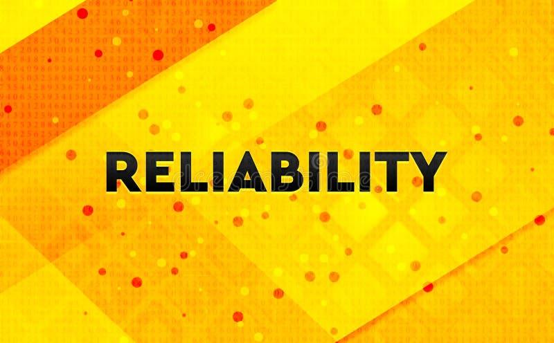Fond jaune de bannière numérique abstraite de fiabilité illustration stock