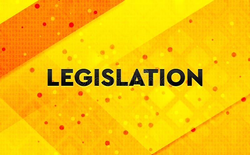 Fond jaune de bannière numérique abstraite de législation illustration stock