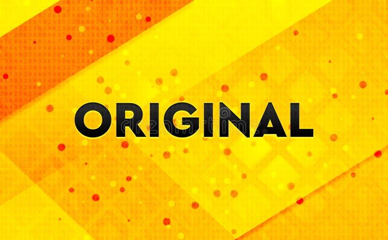 Fond jaune de bannière numérique abstraite originale illustration libre de droits