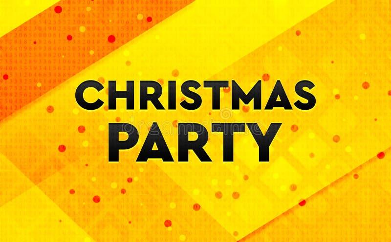 Fond jaune de bannière numérique d'abrégé sur fête de Noël illustration stock