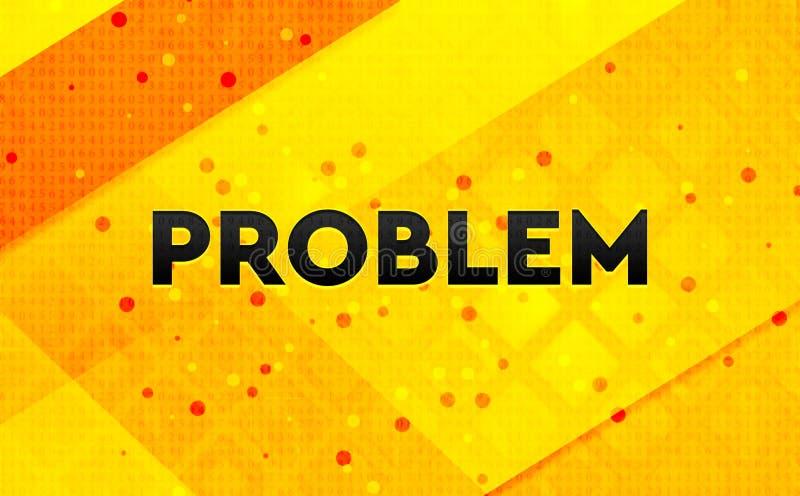 Fond jaune de bannière numérique d'abrégé sur problème illustration de vecteur