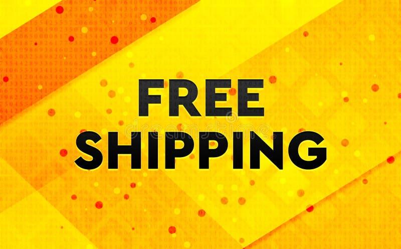 Fond jaune de expédition libre de bannière numérique abstraite illustration de vecteur
