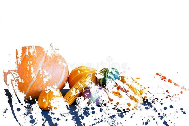 Fond jaune de fruits et l?gumes L'effet de la double exposition illustration libre de droits