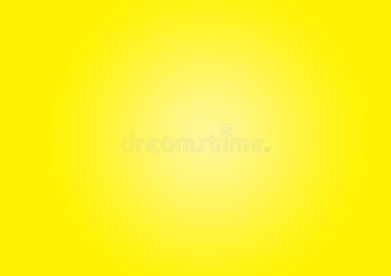 Fond jaune de plaine de gradient image libre de droits