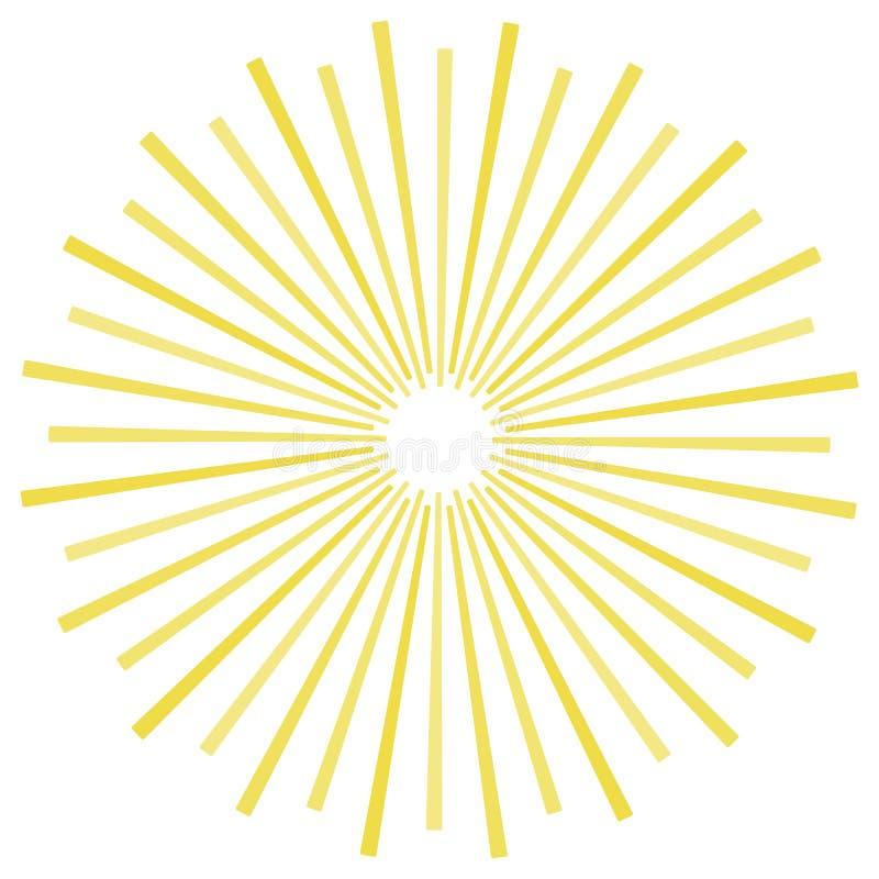 Fond jaune de rayons de soleil de rayures Fond jaune du vecteur eps10 de couleur de rayons de soleil illustration de vecteur