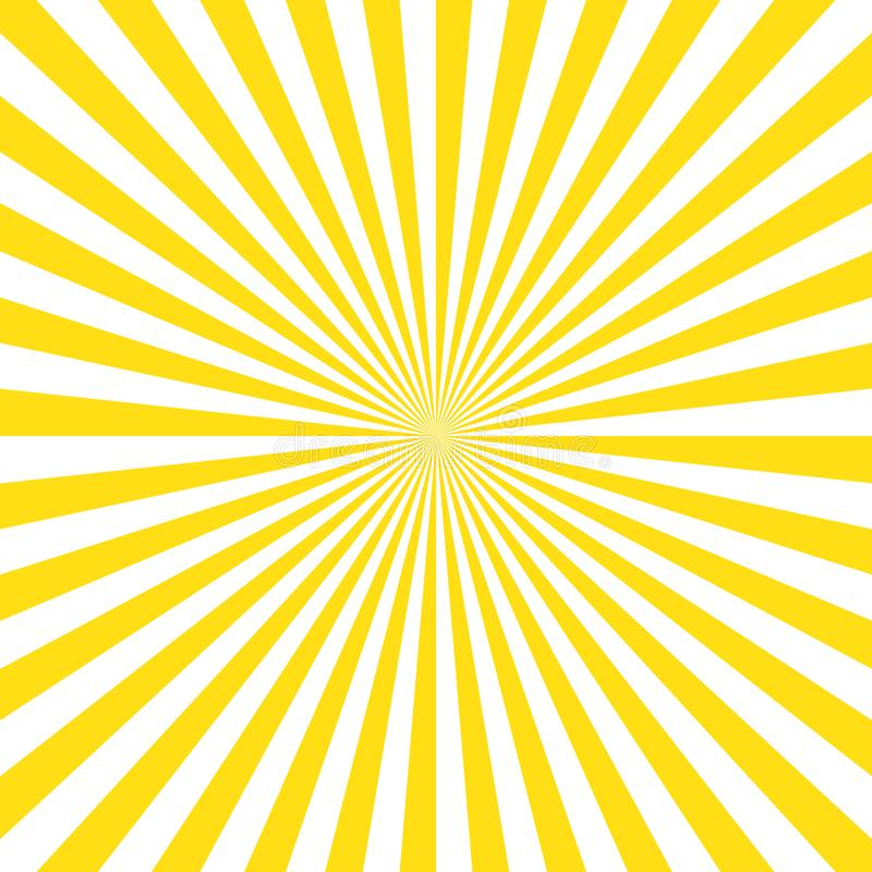 Fond jaune de rayons de soleil de rayures Fond jaune du vecteur eps10 de couleur de rayons de soleil illustration stock