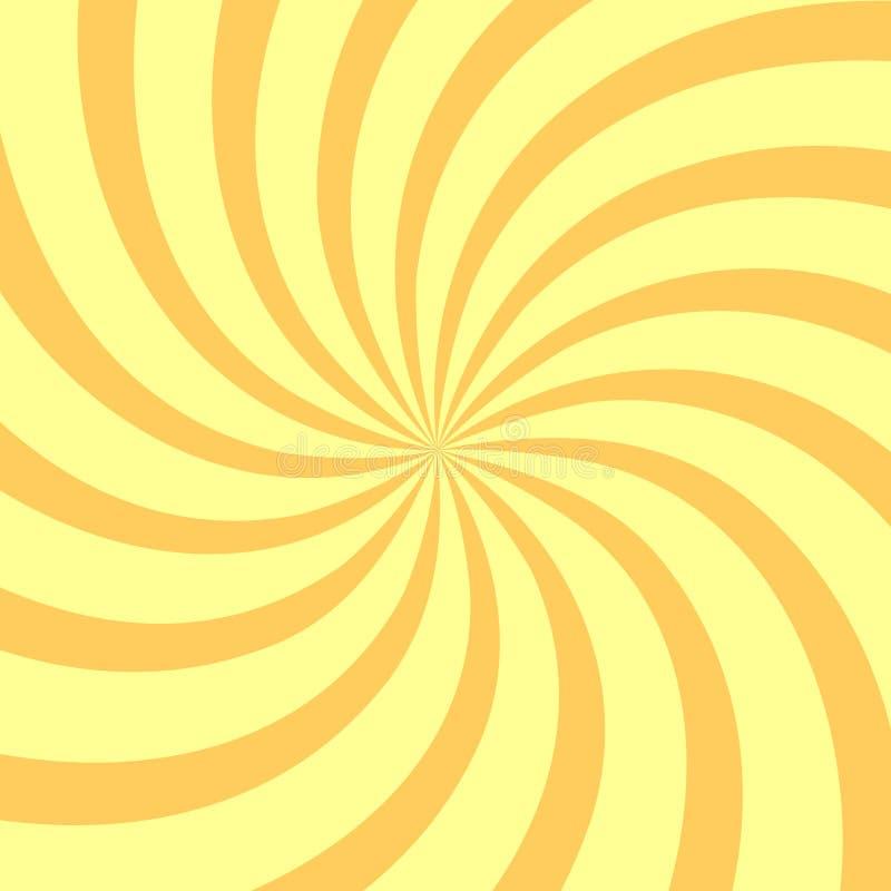 Fond jaune de remous, calibre de conception d'affiche, illustration de vecteur photos stock