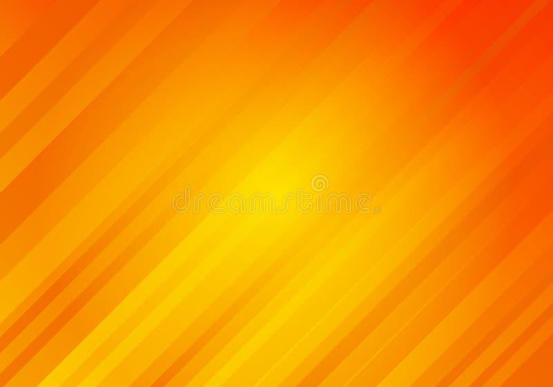 Fond jaune et orange abstrait de couleur avec les rayures diagonales Mod?le minimal g?om?trique Vous pouvez employer pour la conc illustration libre de droits
