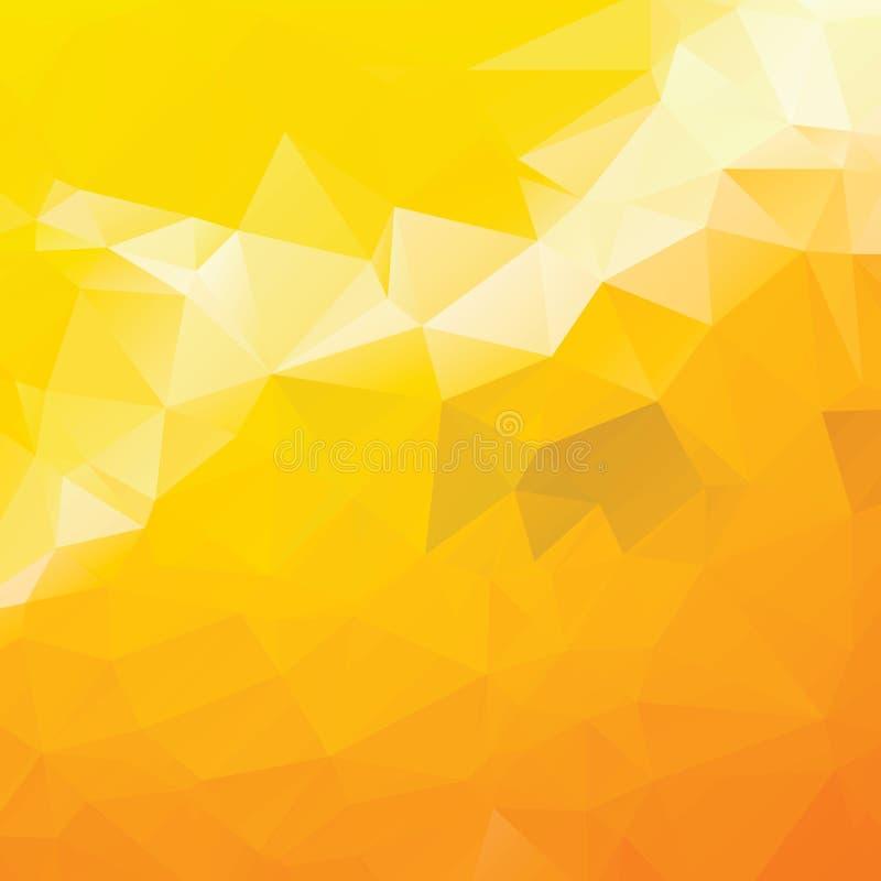 Fond jaune géométrique de triangle colorée abstraite, illustration EPS10 de vecteur Dessin géométrique pour des affaires illustration libre de droits