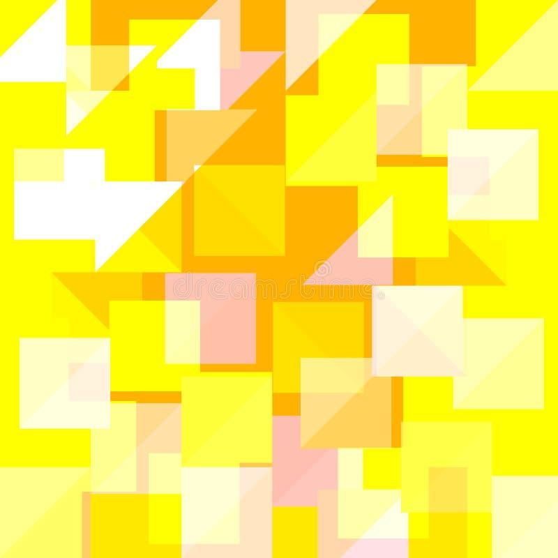 Fond jaune lumineux de conception de pointe Vecteur eps10 illustration libre de droits