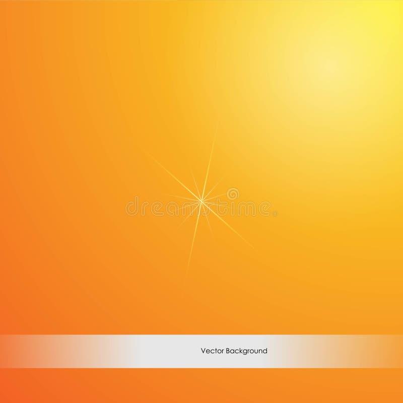 Fond jaune orange-clair de couleurs de Bokeh Illustration de vecteur illustration de vecteur