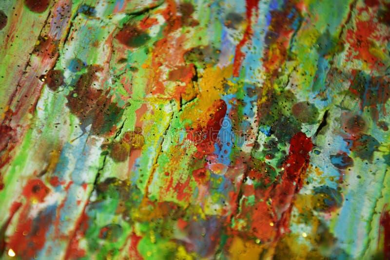 Fond jaune-orange d'aquarelle de M et abstrait vert-bleu images libres de droits