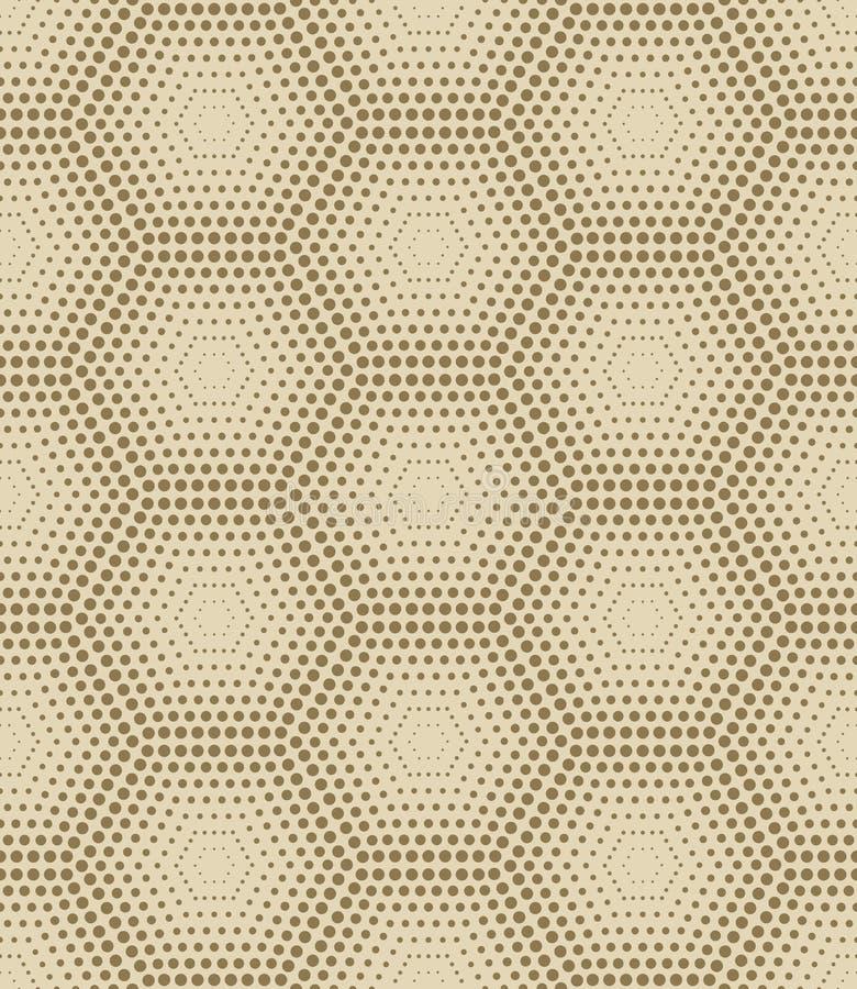 Fond jaune sans couture d'hexagone de vintage illustration stock