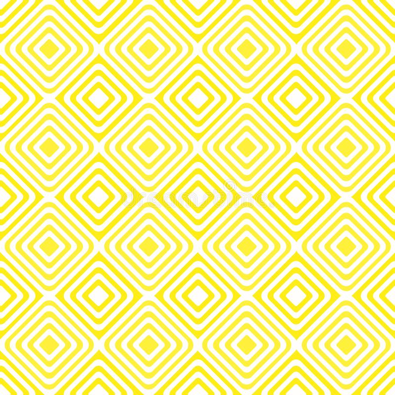 Fond jaune sans couture de modèle diagonal de places illustration stock