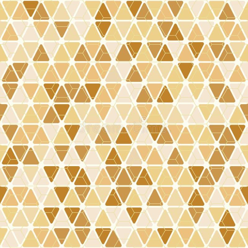 Fond jaune sans couture de mosaïque de triangle illustration de vecteur