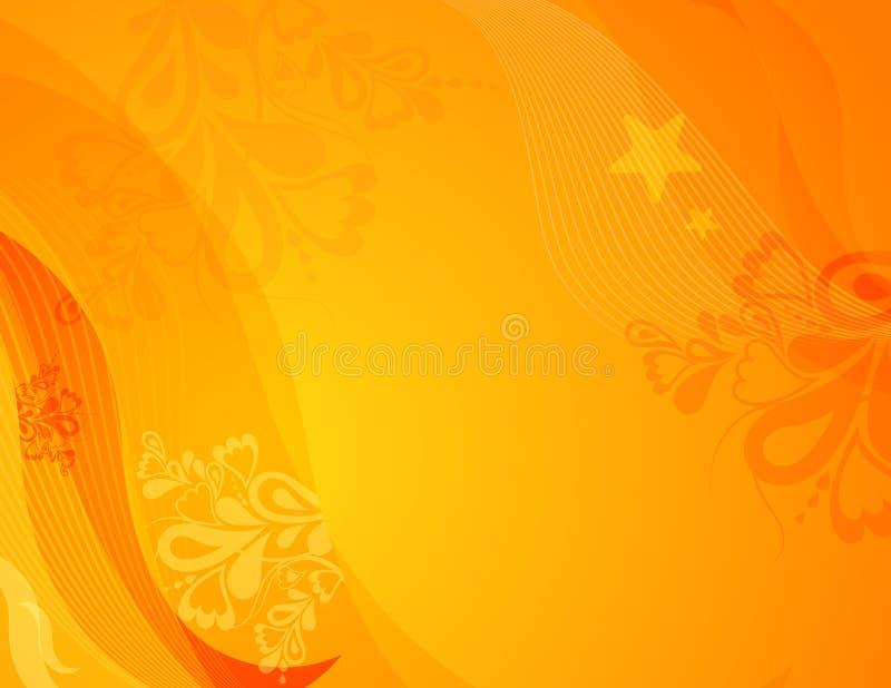 Fond jaune, vecteur illustration stock