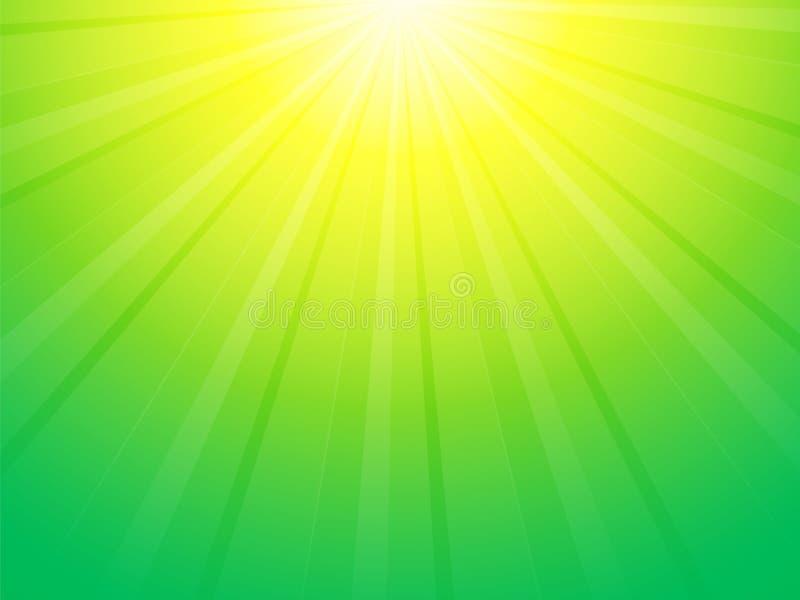 Fond jaune vert de rayon illustration libre de droits