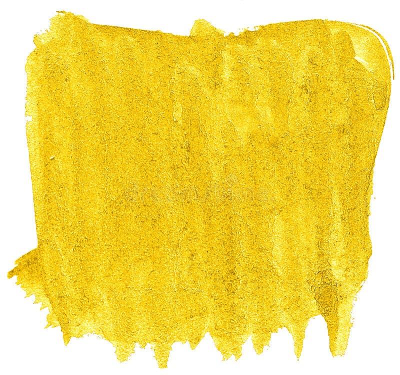 Fond jaune vibrant d'abr?g? sur aquarelle, tache, peinture d'?claboussure, tache, divorce Peintures de cru pour la conception photo libre de droits