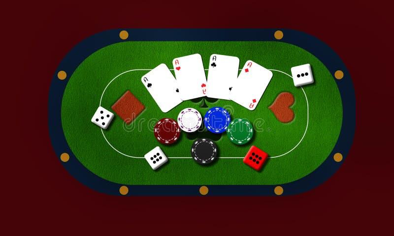 Fond jouant avec des cartes et des puces images stock