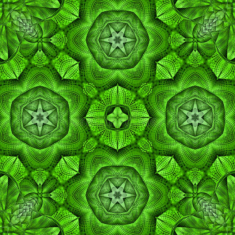 Fond kaléïdoscopique de tuile de vert de mosaïque illustration libre de droits