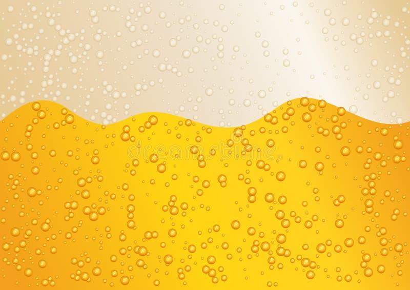 Fond large sans couture de bière d'horizon pour la couleur d'or d'Oktoberfest illustration de vecteur