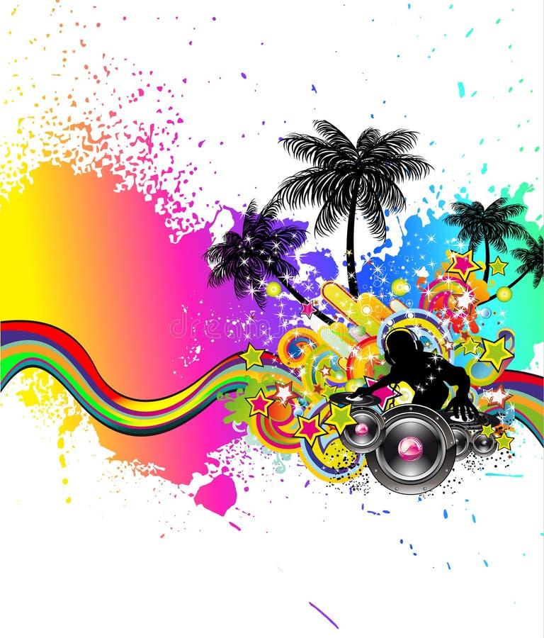 Fond latin d'événement de disco pour des aviateurs illustration libre de droits