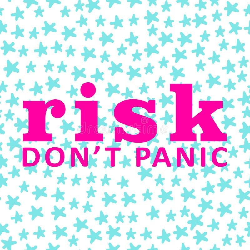 Fond Le risque ne paniquent pas carte motivation illustration libre de droits