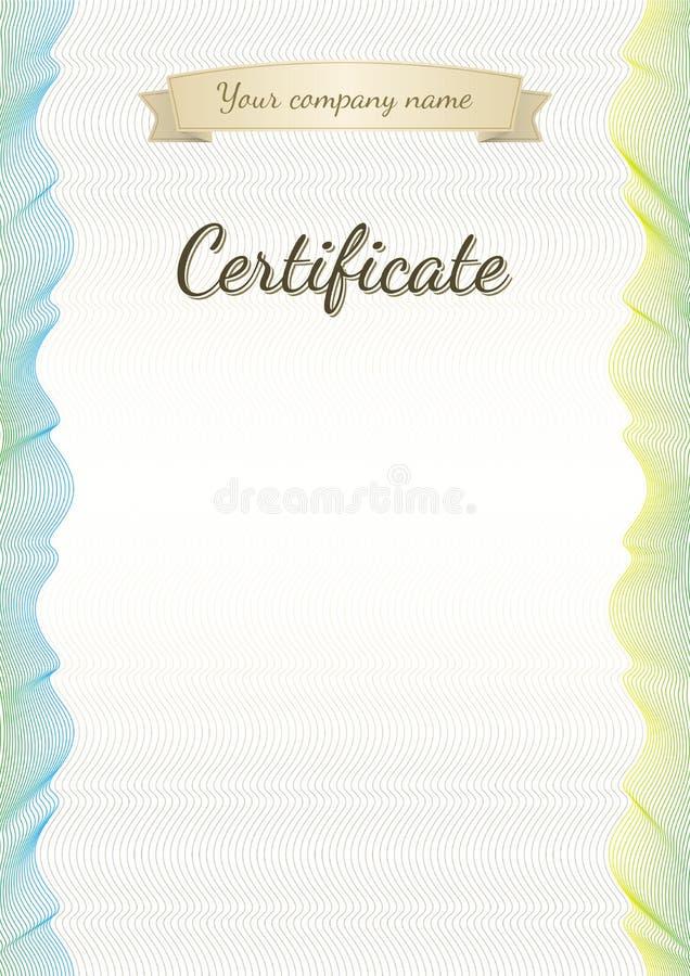 Fond licencié de diplôme de vintage de certificat illustration libre de droits
