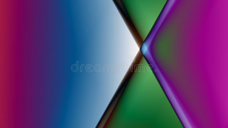 Fond linéaire abstrait de prisme illustration stock