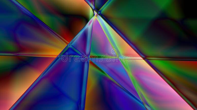 Fond linéaire abstrait de prisme illustration de vecteur