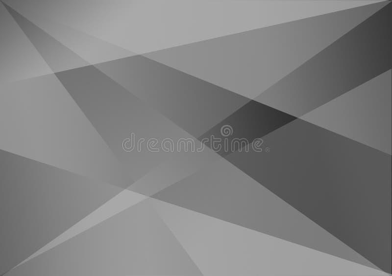 Fond linéaire de gradient de fond de forme de gris illustration stock