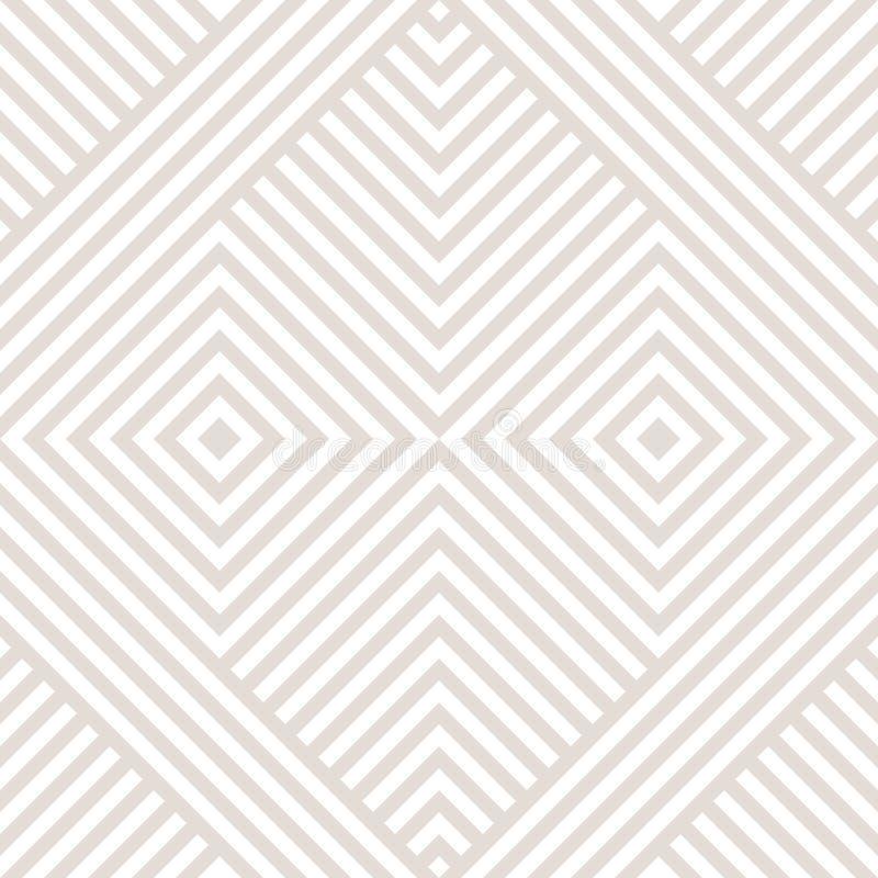 Fond linéaire subtil avec des rayures, formes diagonales, places, chevron illustration stock