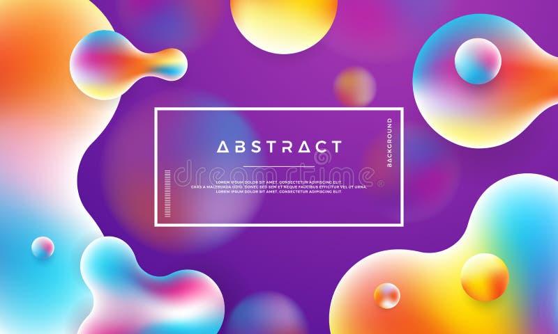 Fond liquide à la mode de couleur Fond pourpré moderne Affiches liquides dynamiques de conception de résumé moderne illustration libre de droits